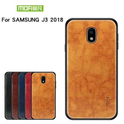 "MOFi PC +TPU + PU Leather Case For Samsung Galaxy J3 2018 5.0"" Back Cover Phone Shell Cover For Samsung Galaxy J3 2018 Case"