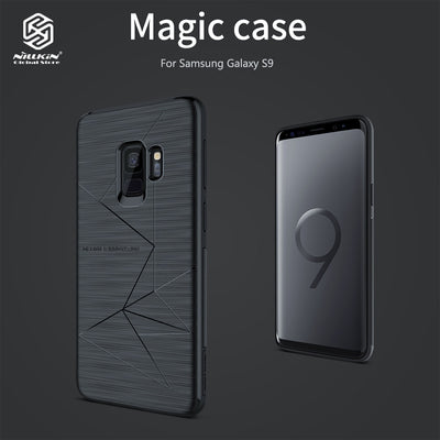 NILLKIN Cases TPU Magnetic Brushed Texture Dropproof Protective Smartphone Back Cover Shell Magic Case For Samsung Galaxy S9