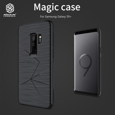 NILLKIN TPU Magnetic Brushed Texture Dropproof Protective Smartphone Back Cover Shell Magic Case For Samsung Galaxy S9 Plus S9+