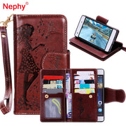Nephy Retro Wallet Leather Phone Case For Huawei LYO L21 Y5 II Y6 II Compact Russia Honor 5A Cover Gold Frame Stand Flip Coque
