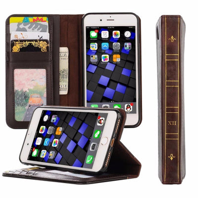 New Luxury Holy Bible Book Case For APPle IPhone XS XR 8 X 7 6 Plus Elegant High Quality Leather Wallet Cover Matte Phone Holder