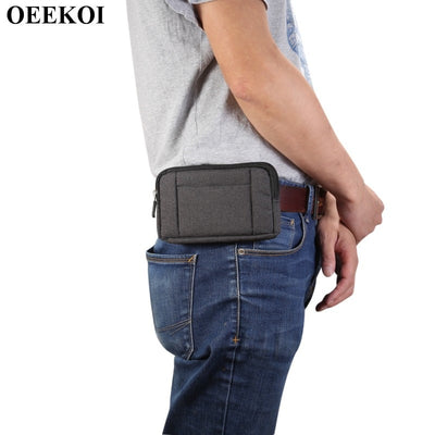OEEKOI Universal Denim Belt Clip Sport Pouch Case For Moto X Style/Moto X Force/Droid Turbo 2