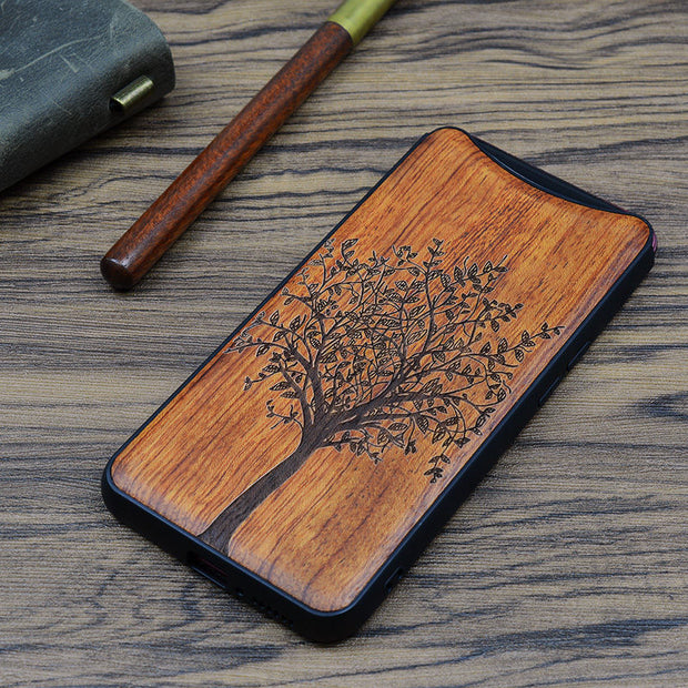 OPPO Find X Case Boogic Original Real Wood Funda OPPO Find X Rosewood TPU Shockproof Back Cover Phone Shell OPPO FindX Case