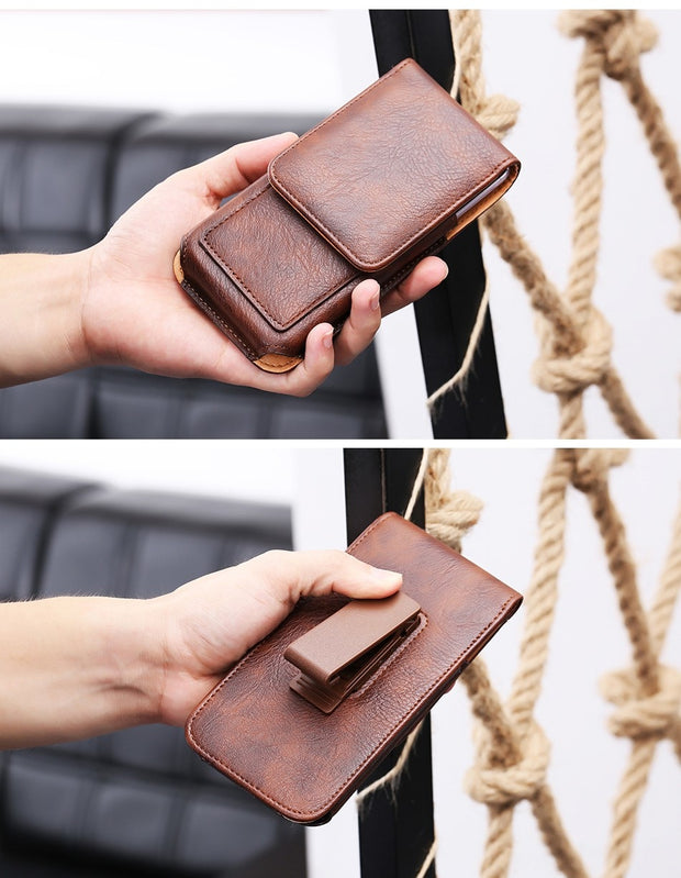 Rotary Holster Belt Clip Mobile Phone Leather Case Pouch For Xiaomi Redmi Note 6 Pro,Mi 8 Pro,Mi 8 Lite,Mi 8 Youth (Mi 8X)