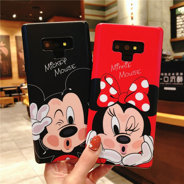 SAM Note9 Cartoon Case, Daisy / Minnie / Donald Duck Phone Cover For Samsung Galaxy Note 9 Note8 Cute Matte Soft TPU Back Case
