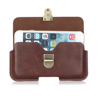 Slim Leather Waist Belt Pouch Phone Case Cover Bag Holster For Homtom HT27 / Fly Cirrus 9 FS553 / Xiaomi Mi Note 2