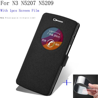 Smart View Window Case For OPPO N3 N5207 N5209 Phone Case Back Cover Flip PU Leather Case For OPPO N 3 Shell Cover Cases