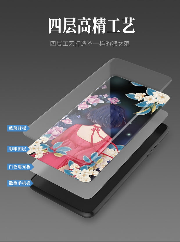Tempered Glass Case For Huawei Nova 3e Full Cover Case Nova3e Tempered Glass Screen Protection Film For Huawei Nova 3e Girl Case