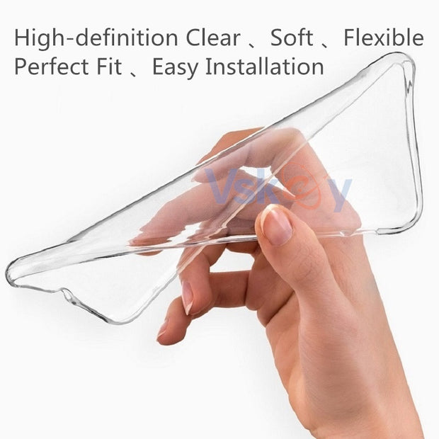 VSKEY 10PCS TPU Phone Case For Motorola Moto E4 Plus High Bright Transparent Clear E4+ Ultra Thin Silicone Back Cover