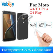 VSKEY 10PCS TPU Phone Case For Motorola Moto G4 Plus High Bright Transparent Clear G4 Play Ultra Thin Silicone Back Cover