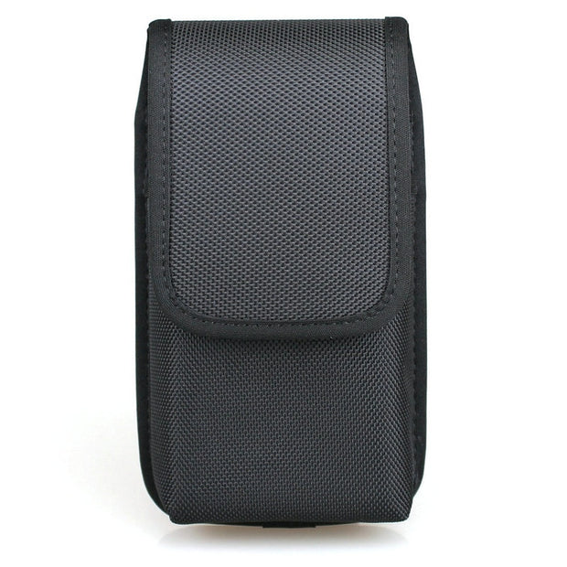Vertical Nylon Dual Phone Holster Pouch Case With Belt Loops For 2 IPhone Xs Max, Samsung Note 9, Huawei Mate 20, Mate 20 Pro
