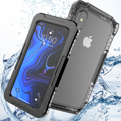 Waterproof Phone Cases For For IPhone Xs Max/Xr Case 360 Degree Protection Shockproof Phone Cover For IPhone Xr/Xs Max Cover