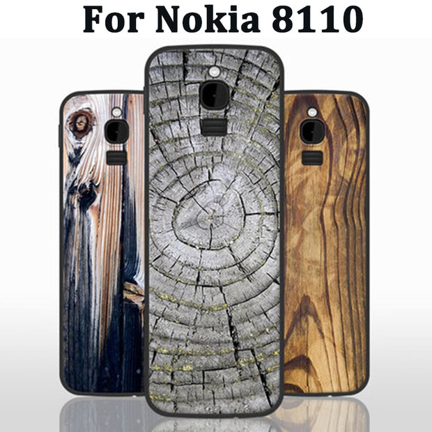 purchase cheap 1d9dc 35262 Wood Grain For Nokia 8110 Case Cover Soft Case Nokia8110 Back Cover For  Nokia TA-1059 Phone Cases Coque TA1059 Skin Shell
