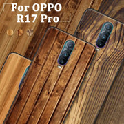 Wood Grain For OPPO R17 Pro Case Cover Soft Case For OPPO R17Pro Back Cover OPPOR17 Pro Phone Cases Coque For OPPO R 17 Pro Skin