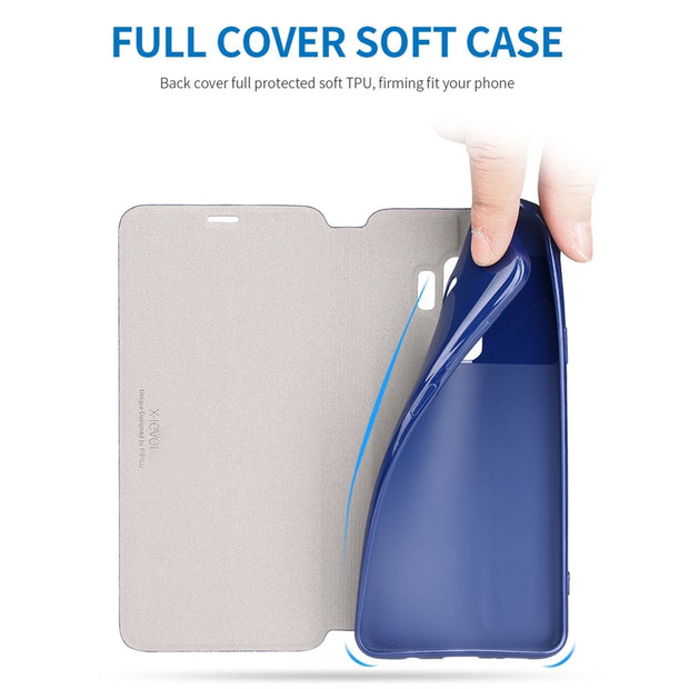 X-Level Business PU Leather Phone Cases For Samsung Galaxy S9 Cover For Samsung S9 Plus Plain Flip Case Fashion Accessories