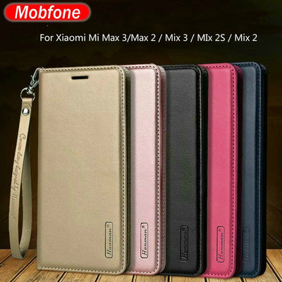 "Xiaomi Mi Max 3 Max 2 Mix 3 2 2s Hanman Business Mi Mix3 Leather Wallet Case Xiaomi Mi Max 3 Max3 6.9"" Real Leather Flip Cover"