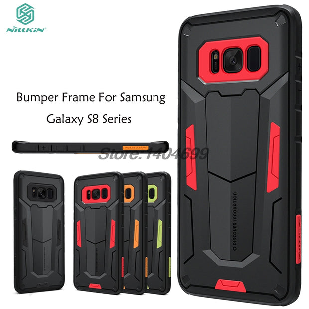 SFor Samsung Galaxy S8 Case Bumper Frame Nillkin Sturdy Series PC+TPU Armor Case For Samsung Galaxy S8 Back Cover