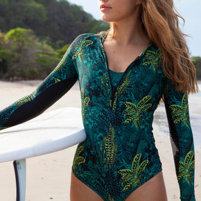 ESCONDIDO Surf One Piece - Jungle Green