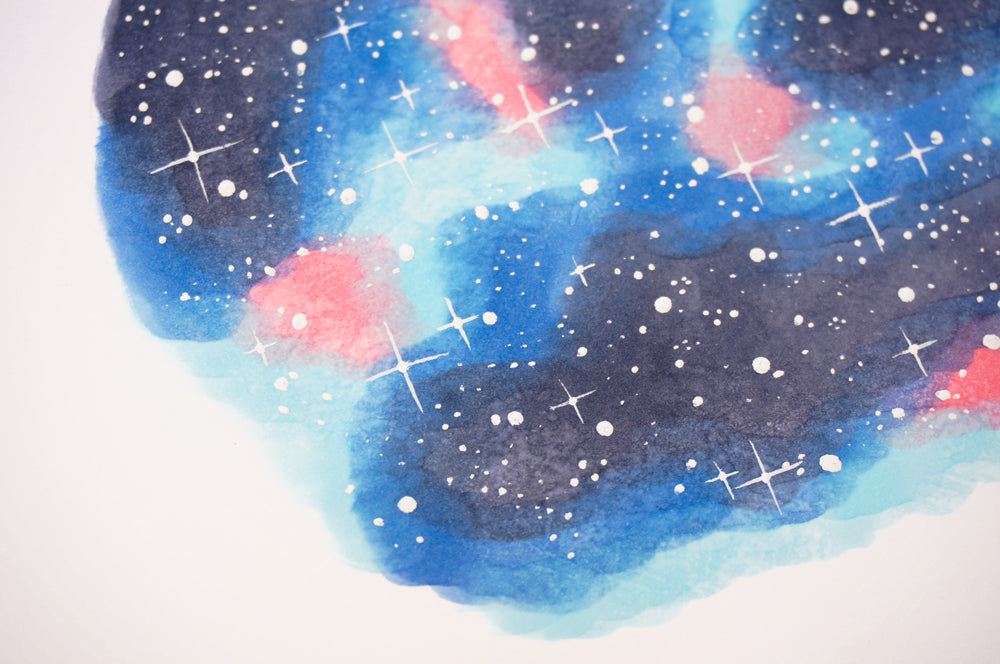 How to draw a starry night sky with Copic markers