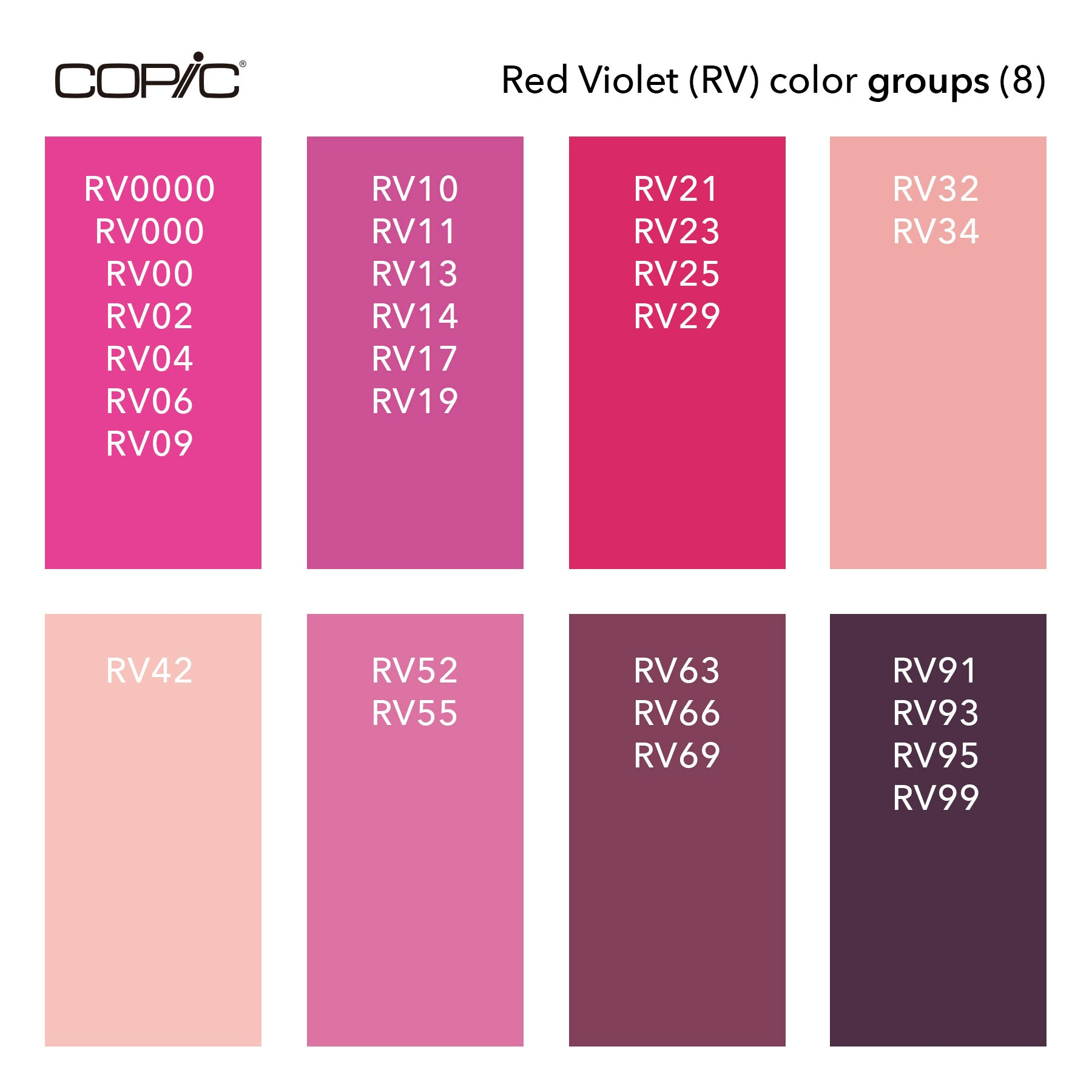 RV Color groups