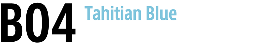 "B04 Tahitian Blue - ""Tahitian Blue"" is highlighted"