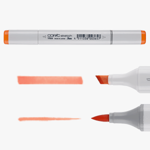 COPIC Sketch marker unit and the two type of tips