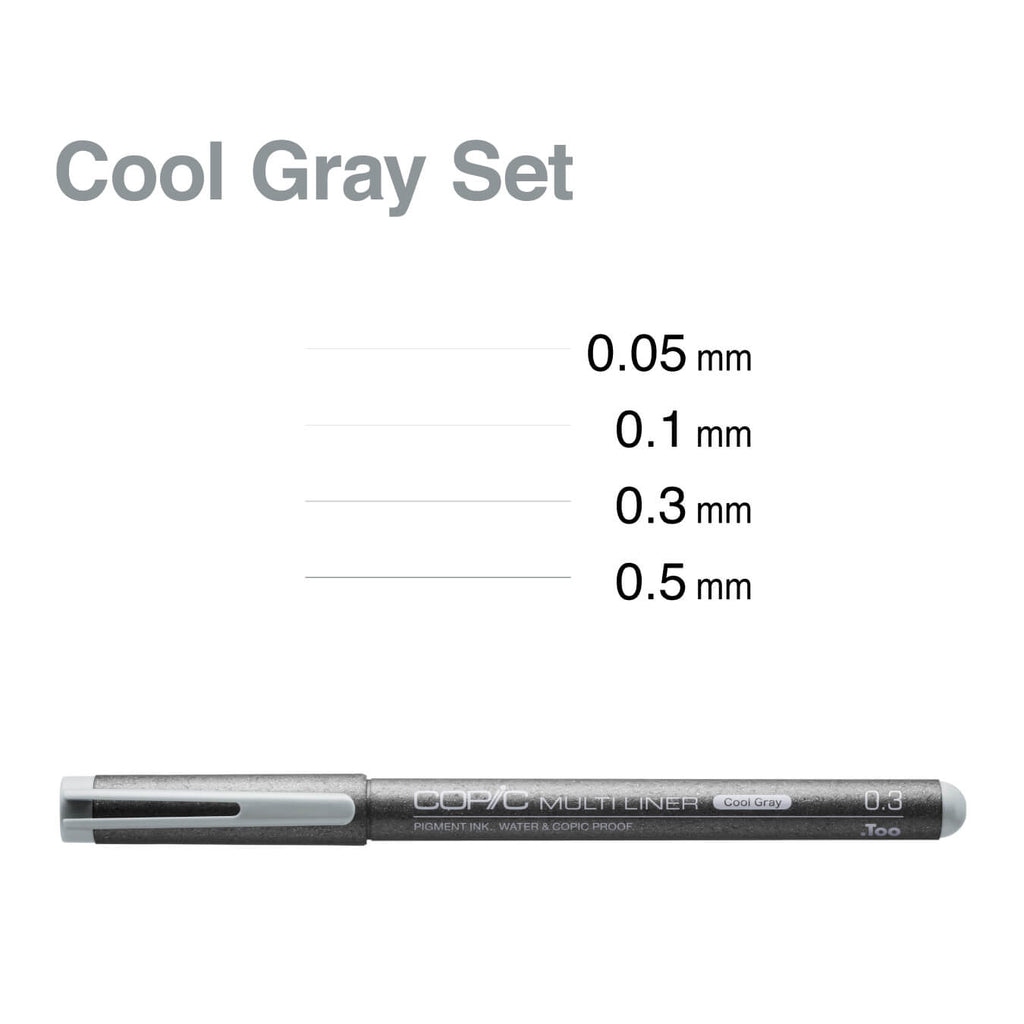 COPIC MULTILINER COOL GRAY 4PC SET