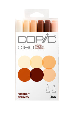 CIAO MARKER 6PC Portrait Set