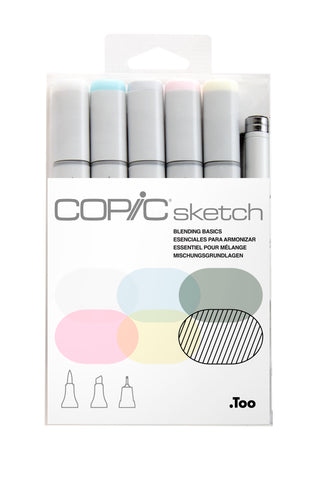 SKETCH MARKER BLEND BASIC 6PC SET