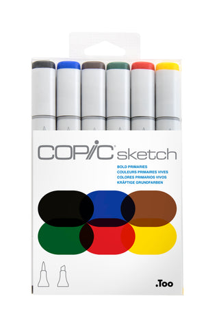 SKETCH MARKER BOLD PRIMARY 6PC SET
