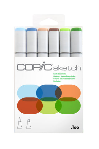 SKETCH MARKER EARTH ESSENTIALS 6PC SET