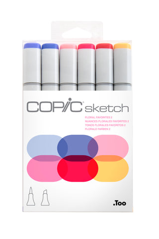 SKETCH MARKER FLORAL FAVORITES 2 6PC SET