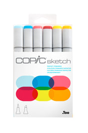 SKETCH MARKER PERFECT PRIMARY 6PC SET