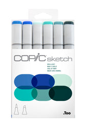 SKETCH MARKER SEA & SKY 6PC SET