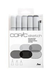 SKETCH MARKER SKETCH GRAYS 6PC SET