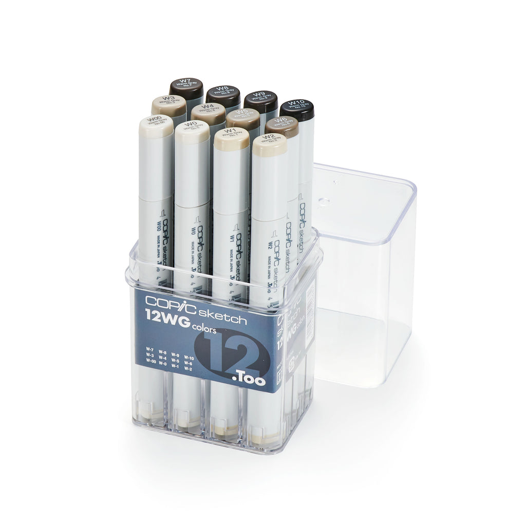 SKETCH MARKER 12PC WARM GRAY