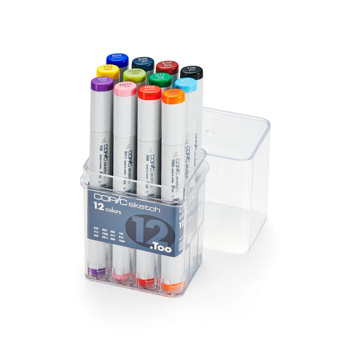 SKETCH MARKER 12PC BASIC SET