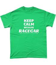 Load image into Gallery viewer, Keep Calm Because Racecar Tee