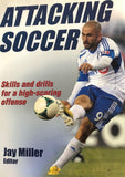 "Attacking Soccer, edited by Jay Miller, is a book that emphasizes the attacking principles in training a soccer team. Ken authored the chapter, ""Attacking through the Midfield"", which provides insights on how to develop and execute an effective attack through midfield play."