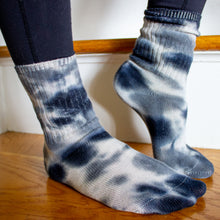 Load image into Gallery viewer, Cozy Tie-Dye Sock & Scrunchie Set