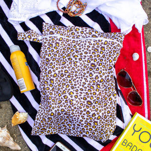 Leopard Water-Resistant Bikini Bag (Set of 2)