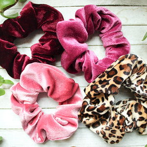 Ayla Velvet Scrunchie Set
