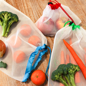 Set of 3 Reusable Mesh Produce Bags