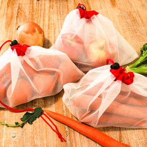 Small Reusable Mesh Produce Bags (Set of 5)
