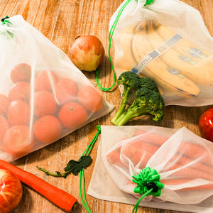 Medium Reusable Mesh Produce Bags | Set of 5