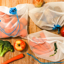 Load image into Gallery viewer, Large Reusable Mesh Produce Bags (Set of 5)