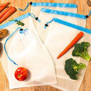 Large Reusable Mesh Produce Bags (Set of 5)