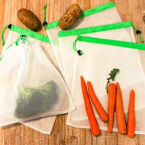 Set of 5 Medium Reusable Mesh Produce Bags