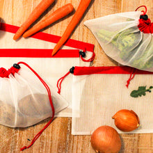 Load image into Gallery viewer, Small Reusable Mesh Produce Bags (Set of 5)