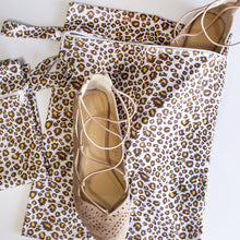 Load image into Gallery viewer, Leopard Travel Swim/Shoe Bag Set (& 2 FREE Scrunchies!)